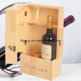 El logotipo respetuoso del medio ambiente imprimió el empaquetado de madera modificado para requisitos particulares del vino en diverso final