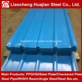 Piatto di tetto d'acciaio rivestito tuffato caldo dello zinco con acciaio galvanizzato ondulato