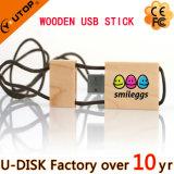 Оптовая навальная вспышка подарка управляет деревянной Bamboo ручкой USB шарнирного соединения карточки