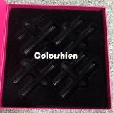 Rectángulo de regalo cosmético asombroso de la visualización del embalaje del perfume con la bandeja de congregación negra