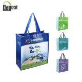 Крупноразмерным дешевым мешок Tote цены напечатанный логосом Non сплетенный для покупкы