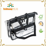 PVC Clear Vinyl Cosmetic Bag di PRO Large Capacity Travel Makeup Organizer con Shoulder Strap