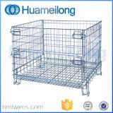 Cage se pliante de mémoire de fil en métal d'entrepôt