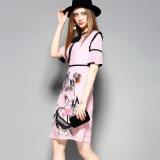 Chinesische Tinten-gedrucktes Silk Frauen-Bleistift-Blumenkleid