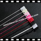 Tag plástico colorido do selo com corda (ST054)