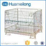 Cages logistiques de treillis métallique de roulis en acier d'entrepôt