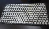Caucho placa de cerámica para la manipulación de materiales a granel