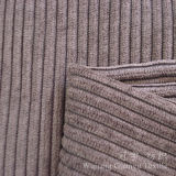 Tissu de pile de coupure de polyester et de velours côtelé de nylon