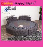 Re elegante di legno Size Round Bed sulla vendita 6823