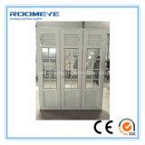 Puerta del marco de la puerta UPVC del PVC de Roomeye con el vidrio del doble del obturador con el nuevo estilo de Girll 2017
