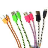 tipo Android trançado cabo do nylon de 1m-3m do USB dos dados micro