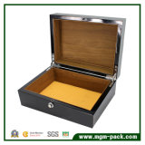 Caixa de relógio de madeira envernizada de Hight piano lustroso