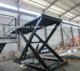 Levage vertical hydraulique de ciseaux de capacité stationnaire de charge lourde