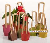 防水クラフトプリントペーパーショッピングキャリアのギフト手の本の鍋プラント装飾的な宝石類の記念品のワインの衣服(D12)のための昇進の上塗を施してあるアートペーパー袋