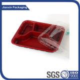 Plateau de nourriture d'empaquetage en plastique avec la couverture