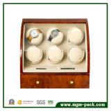 Dobadoura automática de madeira requintado de 6+3 relógios
