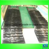 Sacs à provisions en plastique noirs d'épicerie de T-shirt de HDPE