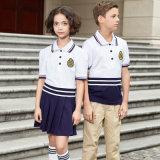 Chemise de polo bon marché d'uniforme scolaire d'été de qualité