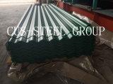 Azulejo de acero revestido acanalado de la hoja del panel del material para techos/de material para techos del color