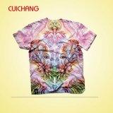 Venta de calidad superior, caliente, camiseta de la manera, camiseta de la sublimación, camiseta de encargo
