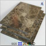 Feuilles de revêtement de mur extérieur d'aluminium de prix usine