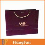 Bolsa de papel de lujo impresa en color con logotipo personalizado