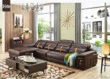 Sofa de combinaison, sofa de cuir véritable, sofa de salle de séjour (M221)