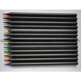 Crayon noir de couleur bois