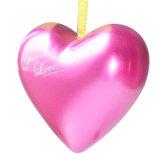 قلب شكل قصدير صندوق لأنّ حالة حبّ/[فلنتين دي]