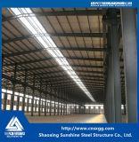 Edificio de acero aislado, hecho de la estructura de acero