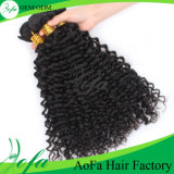 熱い様式の深い波の毛100%Unprocessedの人間の毛髪の拡張