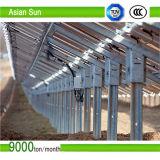 Supporti di attacco d'acciaio galvanizzati rifornimento del comitato solare di stile del tetto della Cina, comitato solare registrabile personalizzato