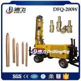 DTHのハンマーが付いている200m Dfq-200W Borewellの鋭い機械