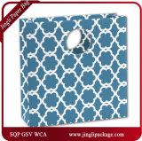 Bolso azul del regalo del papel de Kraft de los bolsos de la Mod de Eco del flor con la maneta de la torcedura o la maneta plana