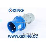 Разъем Cee/IEC 63A 230V голубой промышленный