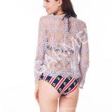 Long chemisier neuf de crochet de lacet de chemise de Styly pour les femmes (BL-250)