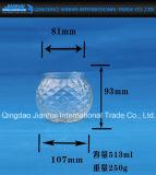 Bottiglia di vetro di Celar del reticolo del diamante per la stretta della candela