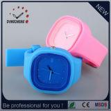 Montres-bracelet de silicone de gelée de mode de couleurs (DC-970)