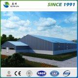 構造金属の鉄骨構造の倉庫の建物