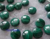 自然なマラカイトの宝石類の設定のための円形のカボション風の石