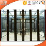 Раздвижная дверь типа высокого качества стандартная европейская, Bi-Складывая стеклянная дверь для патио, алюминиевая дверь с прочным жизненным периодом