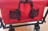 おおいおよび背部袋が付いている折る実用的なワゴン