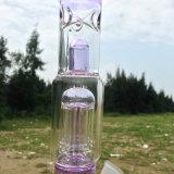 Neues Ankunfts-Glaswasser-Pfeife mit rosafarbener Oberfläche (ES-GB-247)