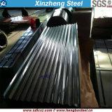 Hoja acanalada de acero galvanizada del material para techos, hoja del material para techos de PPGI (0.125mm-0.8m m)