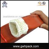 Manicotto Braided di vetro di fibra del manicotto del fuoco ricoperto di silicone