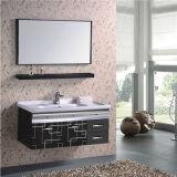 Vanità poco costosa della stanza da bagno della parete dell'acciaio inossidabile con la mensola