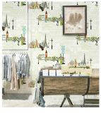 Papier peint de papier de mur de décor de chambre à coucher de gosses avec le PVC lavable