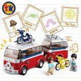Plastikstadt-Wohnmobil blockt Spielzeug für Kinder