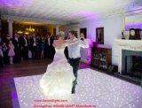 結婚披露宴のイベントのためのワイヤーで縛られた無線RGB White&BlackのアクリルのパネルLEDのStarlitきらめくダンス・フロア