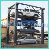 Empilhador vertical do carro do armazenamento hidráulico